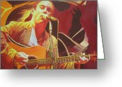 Singer Painting Greeting Cards - Dave matthews at Vegoose Greeting Card by Joshua Morton