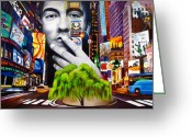 Singer Painting Greeting Cards - Dave Matthews Dreaming Tree Greeting Card by Joshua Morton