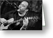 Acoustic Guitar Greeting Cards - Dave Matthews on Guitar 2 Greeting Card by The  Vault