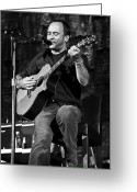 Acoustic Guitar Greeting Cards - Dave Matthews on Guitar 9  Greeting Card by The  Vault
