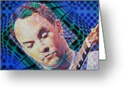 Singer Painting Greeting Cards - Dave Matthews Open Up My Head Greeting Card by Joshua Morton