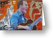 Stop Greeting Cards - Dave Matthews The Last Stop Greeting Card by Joshua Morton