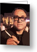 Cigarette Holder Greeting Cards - David Abraham Poster Greeting Card by Kantilal Patel