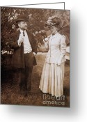 Personage Greeting Cards - David And Mabel Todd Greeting Card by Photo Researchers