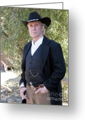 Western Clothing Greeting Cards - David Carradine Greeting Card by Nina Prommer