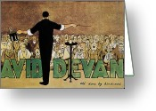 Early Drawings Greeting Cards - DAVID DEVANT POSTER c1910 Greeting Card by Granger