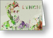 Cult Film Painting Greeting Cards - David Lynch Greeting Card by Irina  March