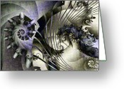 Mandelbrot Greeting Cards - Davids Lyre Greeting Card by David April