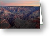 Road Trip Greeting Cards - Dawn at Grand Canyon Greeting Card by Pierre Leclerc