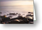 Seaview Greeting Cards - Dawn at Sea Greeting Card by Svetlana Sewell