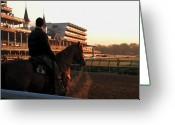 Churchill Downs Greeting Cards - Dawn at the Downs Greeting Card by Lone  Dakota Photography