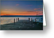 Calm Framed Prints Prints Greeting Cards - Dawn Breaking Greeting Card by Steven Ainsworth