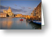 Venetian Architecture Greeting Cards - Dawn in Venice Greeting Card by Brian Jannsen