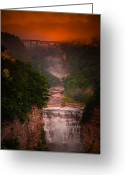Inspiration Point Greeting Cards - Dawn Inspiration Greeting Card by Neil Shapiro