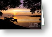 Inland Greeting Cards - Dawn Greeting Card by Karen Wiles