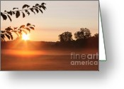 Mist Greeting Cards - Dawn of a Brand New Day  Greeting Card by Cathy  Beharriell
