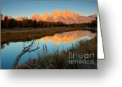 Natures Beauty Greeting Cards - Dawn on the Tetons Greeting Card by Idaho Scenic Images Linda Lantzy