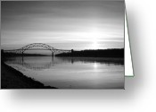 The Cape Greeting Cards - Dawn Over the Cape Cod Canal Greeting Card by Conor McLaughlin