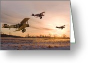 Sunrise Greeting Cards - Dawn Patrol Greeting Card by Pat Speirs