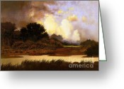 Golf Digital Art Greeting Cards - Dawn Sky Greeting Card by Robert Foster
