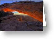 Arch Greeting Cards - Dawns Early Light Greeting Card by Mike  Dawson