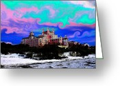 Sea Oats Digital Art Greeting Cards - Day at the Don Greeting Card by David Lee Thompson