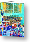 Marcus Greeting Cards - Day Before Christmas at Neiman Marcus . Photoart Greeting Card by Wingsdomain Art and Photography