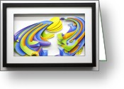 Color Reliefs Greeting Cards - Day Greeting Card by Jason Amatangelo