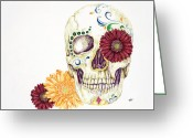 Sarah Zilbershteyn Greeting Cards - Day of the Dead Greeting Card by Sarah Zilbershteyn