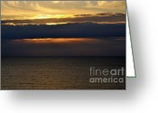 Ocean Front Greeting Cards - Daybreak Greeting Card by Gerlinde Keating - Keating Associates Inc