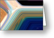 Pixel Bending Greeting Cards - Daylight into Blue Greeting Card by Greg Reed Brown