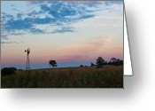 New England Sunset Greeting Cards - Days End Greeting Card by Bill  Wakeley