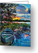 Recommended Greeting Cards - Days End Greeting Card by David Lloyd Glover