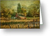 Barn Mixed Media Greeting Cards - Days Gone By Greeting Card by Reflective Moments  Photography and Digital Art Images