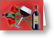Pencil Drawing Digital Art Greeting Cards - Days of Wine and Roses Greeting Card by Garry Staranchuk