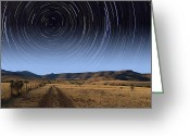Startrail Greeting Cards - Daytime Startrails Greeting Card by Larry Landolfi