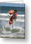 Boogie Board Greeting Cards - Daytona Beach Greeting Card by LaMarre Labadie