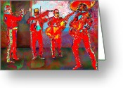 Musicians Digital Art Greeting Cards - De Colores Greeting Card by Dean Gleisberg