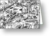 1555 Greeting Cards - De Re Metallica, Prospecting Greeting Card by Science Source