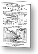 Metallica Greeting Cards - De Re Metallica, Title Page, 16th Greeting Card by Science Source