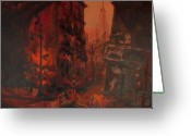 Stage Pastels Greeting Cards - Dead End Greeting Card by Terrell Gates