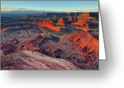Winter Greeting Cards - Dead Horse Point Greeting Card by Lorenzo Marotti Campi