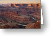 Point State Park Greeting Cards - Dead Horse Point Morning Greeting Card by Andrew Soundarajan