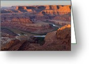 Point State Park Greeting Cards - Dead Horse Point Panorama Greeting Card by Andrew Soundarajan