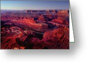 Dawn Greeting Cards - Dead Horse Point Greeting Card by Wade Aiken