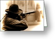 Uniforms Greeting Cards - Deadeye Dillon  Greeting Card by Steven  Digman