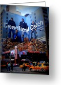Discovery Channel Greeting Cards - Deadliest Catch New Yorks Duane Reade Building Greeting Card by Ms Judi