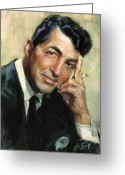 Dean Greeting Cards - Dean Martin Greeting Card by Ylli Haruni