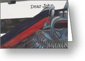 Typewriter Greeting Cards - Dear John  Greeting Card by Barb Pearson