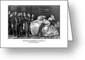 Emancipation Greeting Cards - Death Of President Lincoln Greeting Card by War Is Hell Store